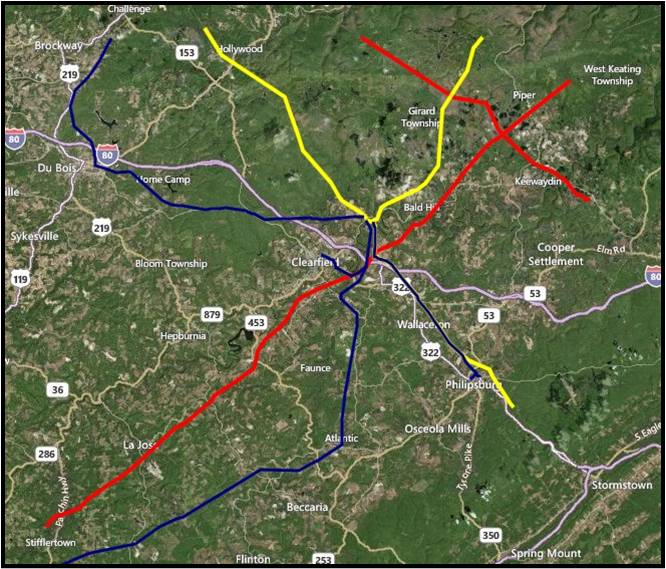 Logistics & Infrastructure Information for Clearfield County PA